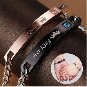 Jewelry - HER KING HIS QUEEN COUPLE BRACELET STAINLESS STEEL